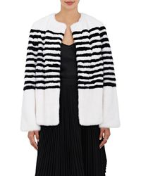 Lilly E Violetta - Striped Mink Fur Jacket - Lyst