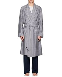 Barneys New York - Striped End-on-end Cotton Robe - Lyst