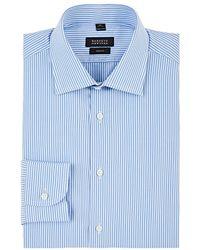 Barneys New York - Striped Cotton Trim Dress Shirt - Lyst