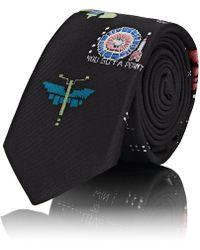 Valentino - Video-games-print Silk Twill Necktie - Lyst
