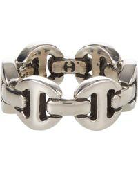 Hoorsenbuhs - Silver Classic Tri-link Ring - Lyst