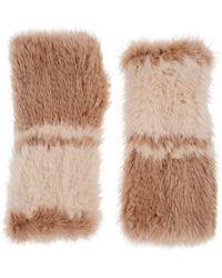 Barneys New York - Knitted Mink Fur Fingerless Mittens - Lyst