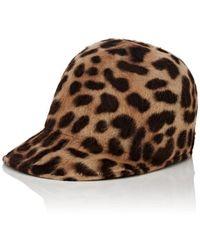 Borsalino - Mélusine Leopard-print Fur-felt Baseball Cap - Lyst