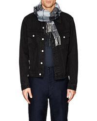 Barneys New York - Checked Cashmere Flannel Scarf - Lyst