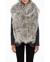 Barneys New York - Mongolian Fur Scarf - Lyst