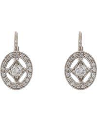 Cathy Waterman | Oval Frame Drop Earrings | Lyst