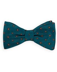 Bigi - Floral-motif Silk Twill Bow Tie - Lyst