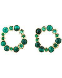 Pamela Love - Paillette Front-facing Hoop Earrings - Lyst