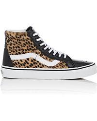 Vans - Sk8-hi Reissue Calf Hair & Leather Sneakers - Lyst