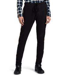 Greg Lauren Striped Cotton-blend Drawstring Jogger Pants - Black