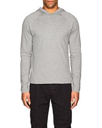 James Perse - Cotton Jersey Reversible Hoodie - Lyst