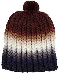 Wommelsdorff - Allie Striped Chunky Virgin Wool Beanie - Lyst