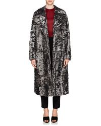 Givenchy - Shearling Oversized Coat - Lyst