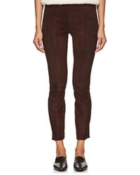 The Row - Cosso Suede Skinny Crop Pants - Lyst