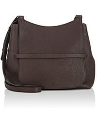 50fa1da036 Lyst - The Row Women s Sideby Grained Leather Shoulder Bag - Camel ...