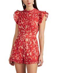 Sir. The Label - Aurelie Floral Cotton Romper Size 3 - Lyst