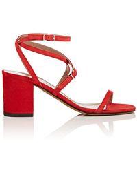 Alumnae - Suede Multi-strap Sandals - Lyst