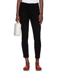 The Row - Cosso Skinny Suede Pants - Lyst