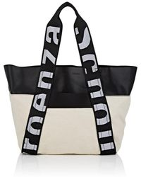 Proenza Schouler - Leather-trimmed Canvas Tote Bag - Lyst