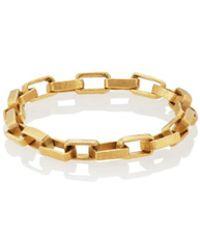 Eli Halili - Yellow Gold Rectangular-link Chain Ring - Lyst