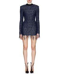Balmain - Tweed Fitted Minidress - Lyst
