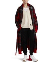 Alexander McQueen - Plaid Mohair-blend Robe - Lyst