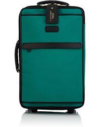 42daebd5d394 Lyst - Fendi Monster Eyes Canvas   Leather Trolley Suitcase in Black ...