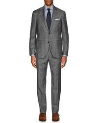 Barneys New York - Lotus Plaid Wool Two-button Suit - Lyst
