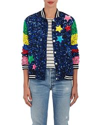 Mira Mikati - whatever Sequined Silk Bomber Jacket - Lyst