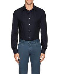 Luciano Barbera - Plain-weave Cotton Shirt - Lyst