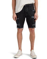 657accd9a2e1 Ksubi Axel Distressed Denim Shorts in Black for Men - Lyst
