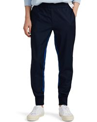 PS by Paul Smith - Striped Wool-mohair Jogger Trousers - Lyst