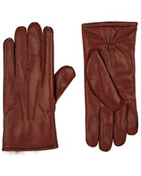 Barneys New York - Fur-lined Leather Gloves - Lyst