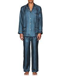 Barneys New York - Polka Dot Silk Pyjama Set - Lyst