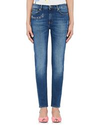 Mira Mikati - Embroidered-words Skinny Jeans - Lyst