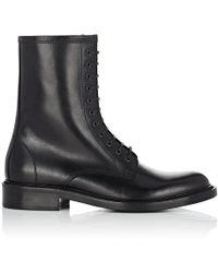 Saint Laurent - Timothy Leather Combat Boots - Lyst
