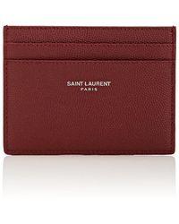 Saint Laurent - Leather Card Case - Lyst