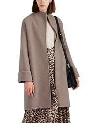 Giorgio Armani - Double-faced Wool-blend Belted Coat - Lyst