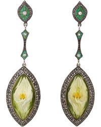 Sevan Biçakci - Tulip Intaglio Drop Earrings - Lyst