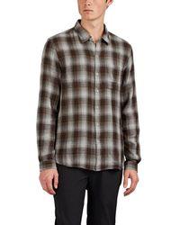 John Varvatos - Reversible Double-faced Cotton Shirt - Lyst