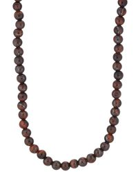 Barneys New York - Tiger's-eye Beaded Necklace - Lyst