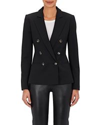 Barneys New York - Wool-blend Double-breasted Jacket - Lyst