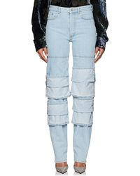 Y. Project - Cuff Fold Straight Jeans - Lyst