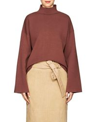 Nomia - Compact Knit Mock Turtleneck Crop Jumper - Lyst