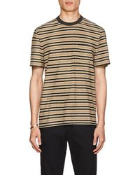 James Perse - Striped Slub Cotton T-shirt - Lyst