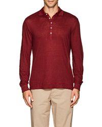 Massimo Alba - Slub Linen Polo Shirt - Lyst