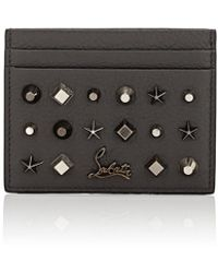 Christian Louboutin - Studded Card Case - Lyst