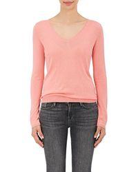 Barneys New York - Silk-cashmere V-neck Jumper - Lyst