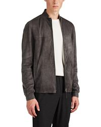 Theory - Tremont Suede Zip-front Jacket - Lyst