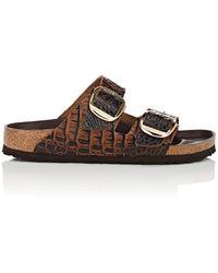 Birkenstock - Arizona Big Buckle (gator Anthracite Embossed Leather) Women's Shoes - Lyst